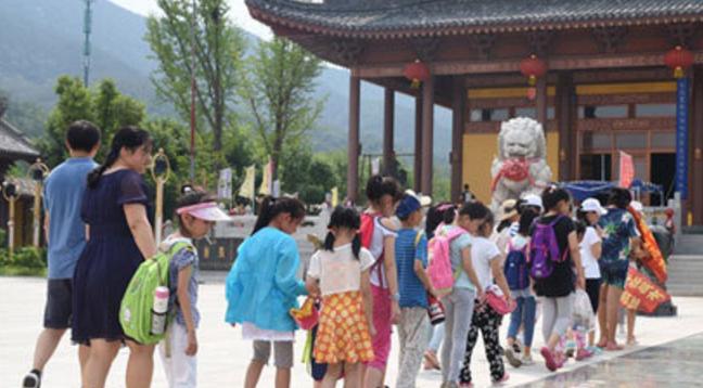 """山东峆㠠寺举行暑假一起学做 """"小小茶艺师""""活动"""