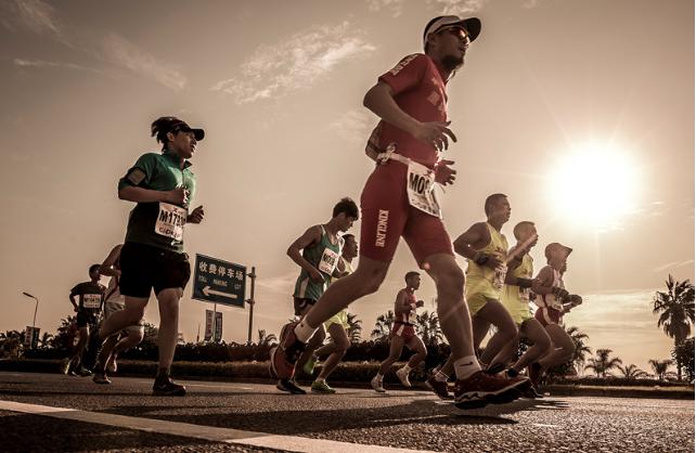 2015厦门马拉松精彩画面