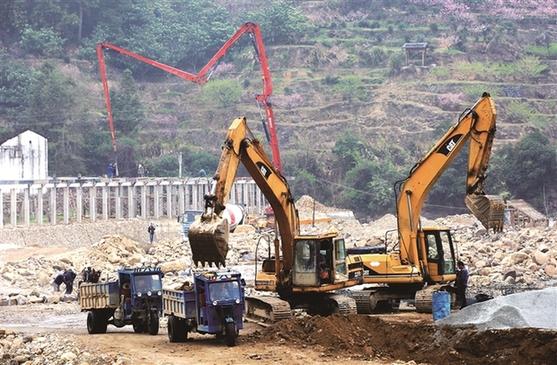 福安穆云畲乡虎头安全生态水系项目建设进展顺利