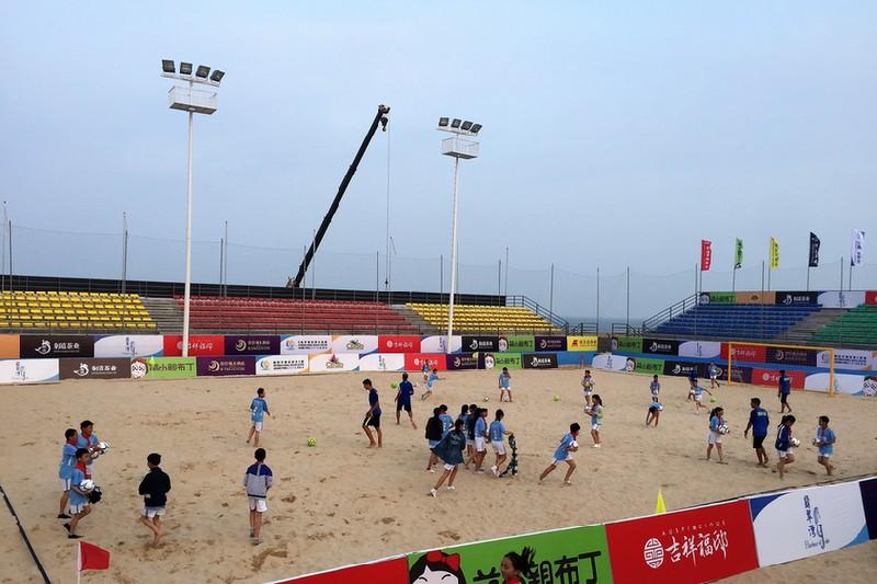 国内首个永久性国际沙足赛馆在漳浦翡翠湾开馆