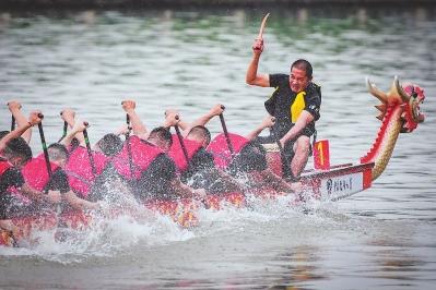 福建省运会群众组龙舟赛结束