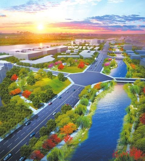 滨海新城打造4条景观河道  形成大数据产业园滨水活力绿脉