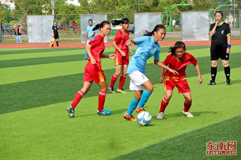 福建省运会青少年足球女子乙组比赛在霞浦落幕
