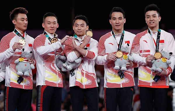 亚运会福建选手第五金 林超攀体操男团再折桂