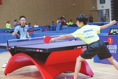 省运会青少年部乒乓球比赛进入高潮