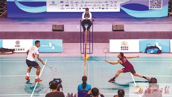 """第二届""""妈祖杯""""海上丝绸之路国际羽毛球挑战赛开幕"""