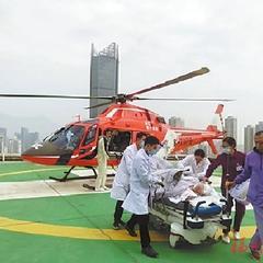 孕妇脑出血直升机紧急送医  25分钟飞越130公里