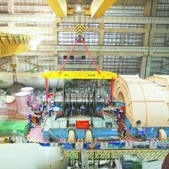 福清核电5号机组汽轮机本体安装基本完成