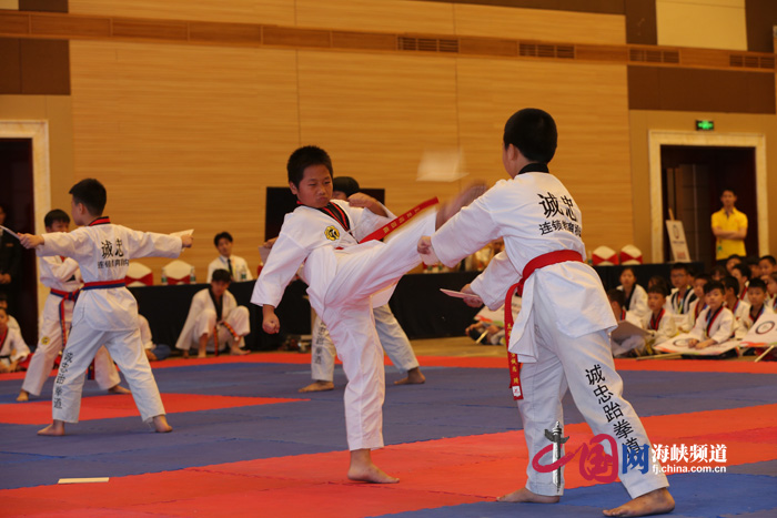 海峡两岸跆拳道交流大赛平潭举行   两岸530名选手