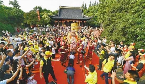湄洲媽祖昨巡安布福上海 黃浦江畔媽祖文化氛圍濃