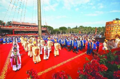 庆祝妈祖信俗申遗成功十周年 湄洲岛举行海祭妈祖大典