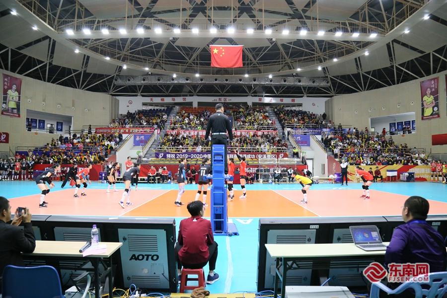中国女排超级联赛 福建安溪铁观音0:3负八一南昌