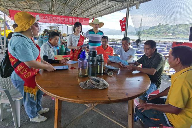 八都镇开展新时代文明实践志愿服务海上行